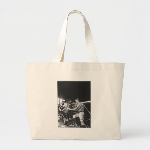 Charles Lindbergh Circa 1927 Jumbo Tote Bag