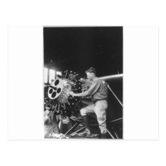 Charles Lindbergh Circa 1927 Postcard