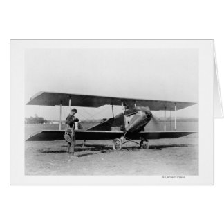 Charles Lindbergh with Sergeant Card