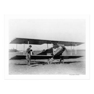 Charles Lindbergh with Sergeant Postcard