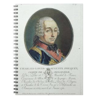 Charles-Louis-Auguste Fouquet (1684-1761) del 'Po Libros De Apuntes Con Espiral