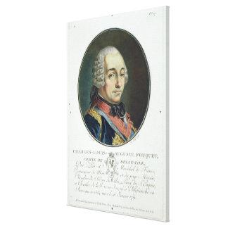 Charles-Louis-Auguste Fouquet (1684-1761) del 'Po Impresiones En Lona