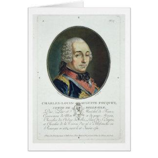 Charles-Louis-Auguste Fouquet (1684-1761) del 'Po Tarjeta De Felicitación