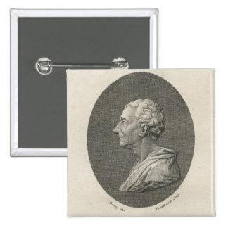Charles Louis de Secondat, barón de Montesquieu Pin Cuadrada 5 Cm