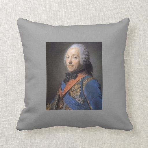 Charles Louis Fouquet, Duke by Maurice Quentin Throw Pillow