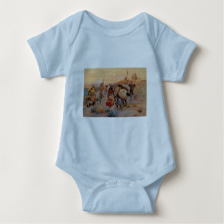 Charles M. Russell's First Wagon Tracks (1908) Baby Bodysuit
