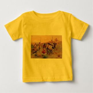 Charles M. Russell's First Wagon Tracks (1908) Baby T-Shirt