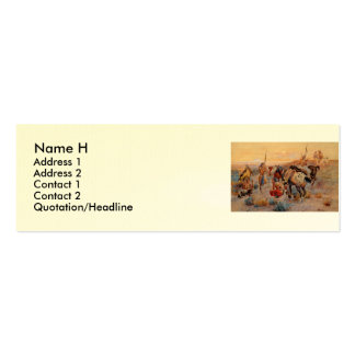Charles M. Russell's First Wagon Tracks (1908) Double-Sided Mini Business Cards (Pack Of 20)