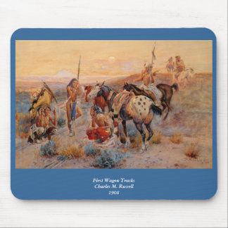 Charles M. Russell's First Wagon Tracks (1908) Mouse Pad