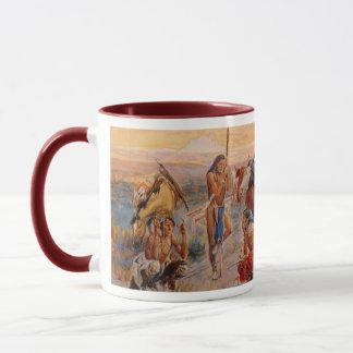 Charles M. Russell's First Wagon Tracks (1908) Mug