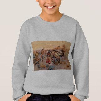 Charles M. Russell's First Wagon Tracks (1908) Sweatshirt