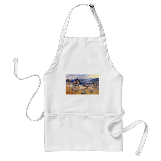 Charles M. Russell's Loops and Swift Horses (1916) Adult Apron