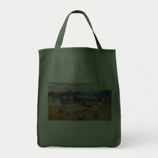 Charles M. Russell's Loops and Swift Horses (1916) Grocery Tote Bag