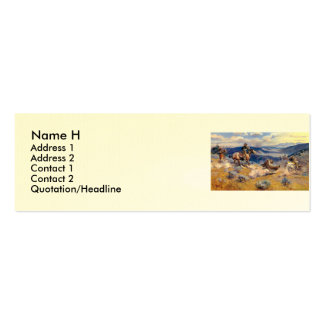 Charles M. Russell's Loops and Swift Horses (1916) Double-Sided Mini Business Cards (Pack Of 20)