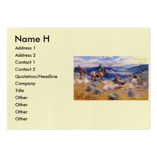 Charles M. Russell's Loops and Swift Horses (1916) Large Business Cards (Pack Of 100)