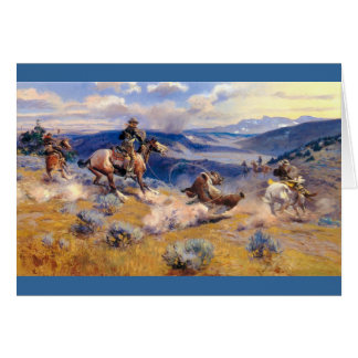 Charles M. Russell's Loops and Swift Horses (1916) Card