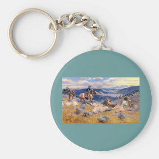 Charles M. Russell's Loops and Swift Horses (1916) Keychain