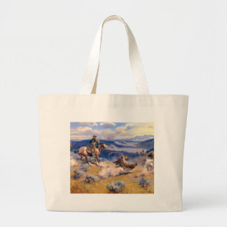 Charles M. Russell's Loops and Swift Horses (1916) Large Tote Bag