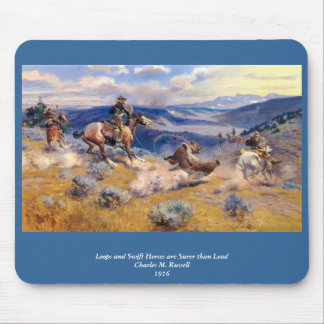 Charles M. Russell's Loops and Swift Horses (1916) Mouse Pad