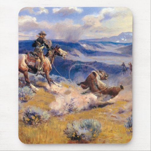 Charles M. Russell's Loops and Swift Horses (1916) Mousepad