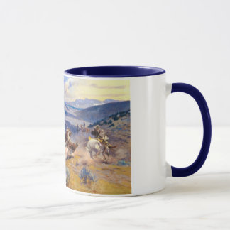 Charles M. Russell's Loops and Swift Horses (1916) Mug