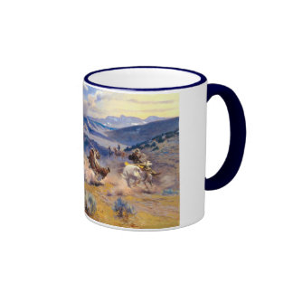 Charles M. Russell's Loops and Swift Horses (1916) Ringer Coffee Mug