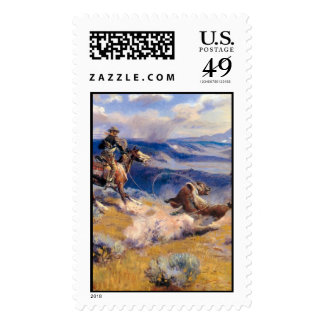 Charles M. Russell's Loops and Swift Horses (1916) Stamp