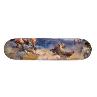 Charles M. Russell's Loops and Swift Horses (1916) Skateboard Deck