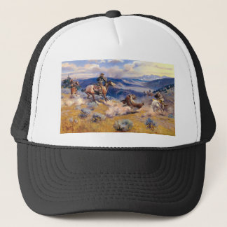 Charles M. Russell's Loops and Swift Horses (1916) Trucker Hat
