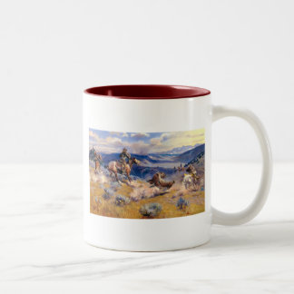 Charles M. Russell's Loops and Swift Horses (1916) Two-Tone Coffee Mug