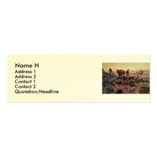 Charles M. Russell's Paying the Fiddler (1919) Double-Sided Mini Business Cards (Pack Of 20)