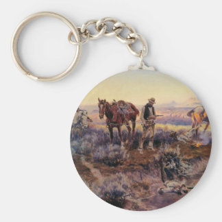 Charles M. Russell's Paying the Fiddler (1919) Keychain