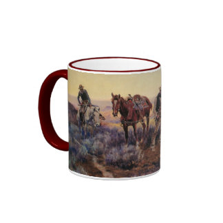 Charles M. Russell's Paying the Fiddler (1919) Mugs