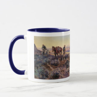 Charles M. Russell's Paying the Fiddler (1919) Mug