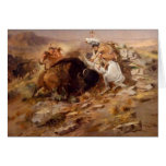 Charles Marion Russell - Buffalo Hunt Card