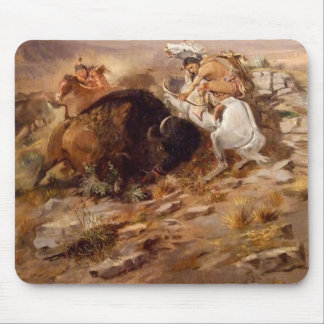 Charles Marion Russell - Buffalo Hunt Mouse Pad