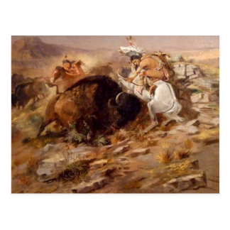 Charles Marion Russell - Buffalo Hunt Postcard