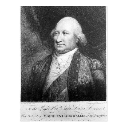 Charles, Marquis of Cornwallis, 1799 Postcard