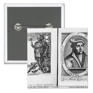 Charles Martel  and Martin Luther 2 Inch Square Button