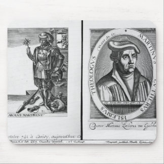 Charles Martel  and Martin Luther Mouse Pad