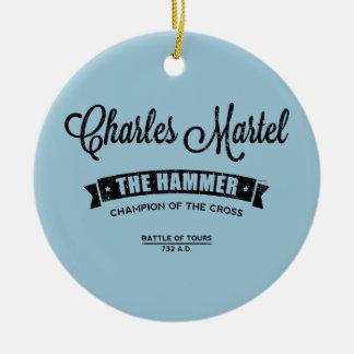 Charles Martel Ceramic Ornament