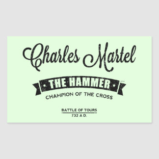 Charles Martel Rectangular Sticker