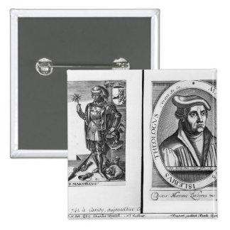 Charles Martel y Martin Luther Pin Cuadrada 5 Cm