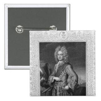 Charles Mordaunt, conde de Peterborough Pin Cuadrado