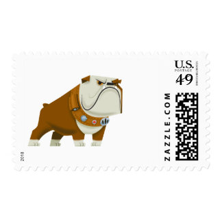 Charles Muntz bulldog - Disney Pixar UP Postage Stamp