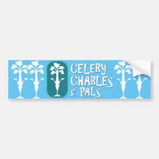 'Charles & Pals' Light Turquoise Bumper Sticker
