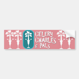 'Charles & Pals' Pink Bumper Sticker