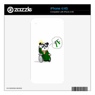 Charles PANDAvier - Professor P Decals For iPhone 4