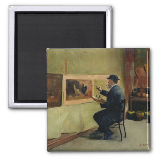 Charles Philippe Gevens, father-in-law of artist 2 Inch Square Magnet