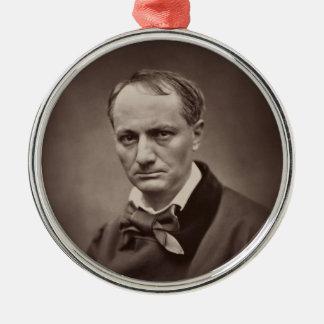 Charles Pierre Baudelaire Portrait Étienne Carjat Metal Ornament